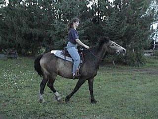 Me riding Chum - Fall 2001