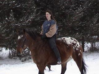Me riding Sadie- Nov. 28th, 2001